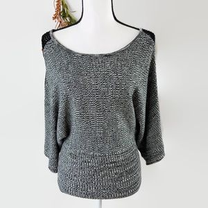 Brittany Black Dolman stretchy blouse S